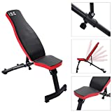 ISE Folding Gym Weight Bench Flat/Incline Adjustable Bench SY-5021