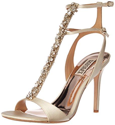 Badgley Mischka Women's Hollow Heeled Sandal Ivory shop KsjKKJ