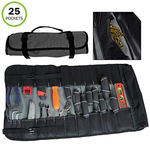 Evelots Werkzeugtasche mit 25 Fächern, Segeltuch