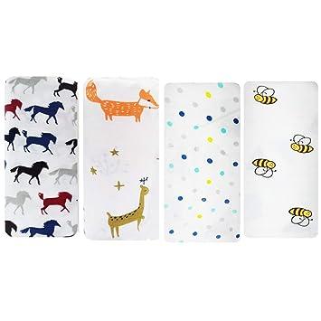 "Giraffe Large 47/""x47/"" Muslin Swaddle Blankets Blue stars and Monkey"
