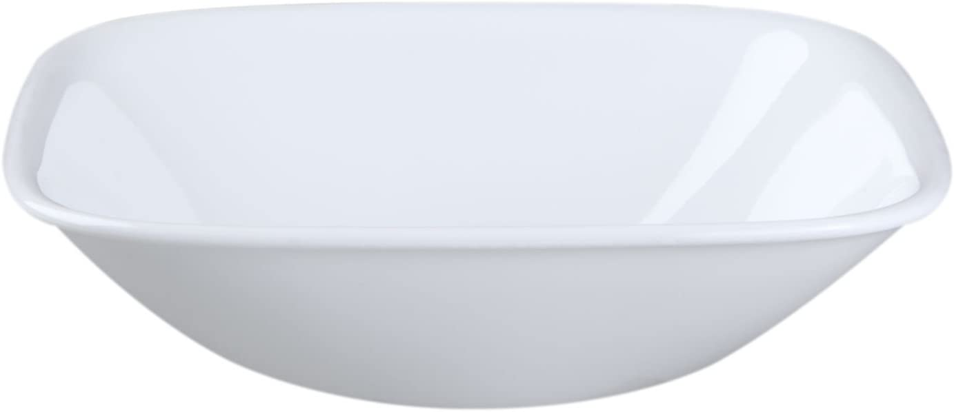 Corelle Square Pure White 10 Ounce Soup/Cereal Bowl (Set of 4)