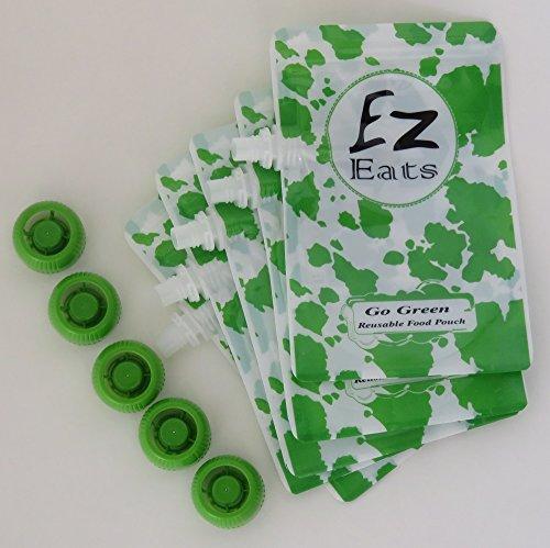 Ez Eats Reusable Squeeze Food Pouch 5 Pack
