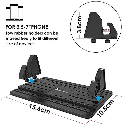 Car Phone Holder, Vansky Car Phone Mount Silicone Dashboard Car Pad Mat for iPhone X/8 Plus/7 Plus/6/6S Plus, Samsung Galaxy S8 Plus/Note 8/S7 3.5-7 inch Smartphone or GPS Devices by Vansky (Image #2)