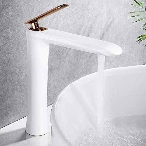 white lavatory faucet - 9