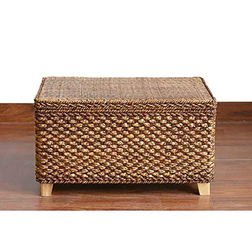 Hzpxsb Footstool Rattan Compile Storage Stool Shoe Bench Foyer Sofa Stool Living Room Bedroom Dressing Table Shopping Mall Shoe Store Footstool (Size : 50 X 30 X 40CM)