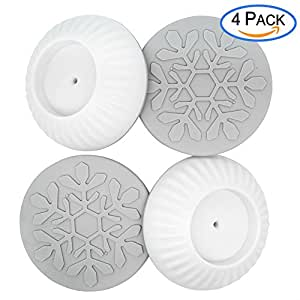 Baby Gate Wall Protector, Universal Strong Grip Wall Cup Saver Guard Pads for Dog Gates Walk Through Pressure Mounted Gates, Make of Non-toxic Rubber -4 Pack