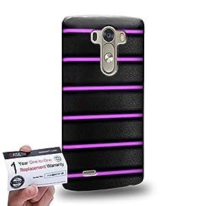 Case88 [LG G3] 3D impresa Carcasa/Funda dura para & Tarjeta de garantía - Art Purple Bicycle Grip
