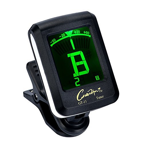 Tuner Digital Clip on Tuner for Guitar Bass Ukulele Violin Chromatic Tuning Large Clear Colorful LCD Display Calibrated Pitch Battery Included Auto Power Off