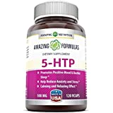 Amazing Nutrition 5-htp 100 Mg 120 Vcaps - Promotes Positive Mood & Restful Sleep