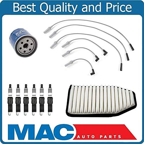 Mac Auto Parts 157523 for 07-11 Jeep Wrangler 3.8L Wire Set Plugs Air Filter Oil Filter 9pc Tune Up