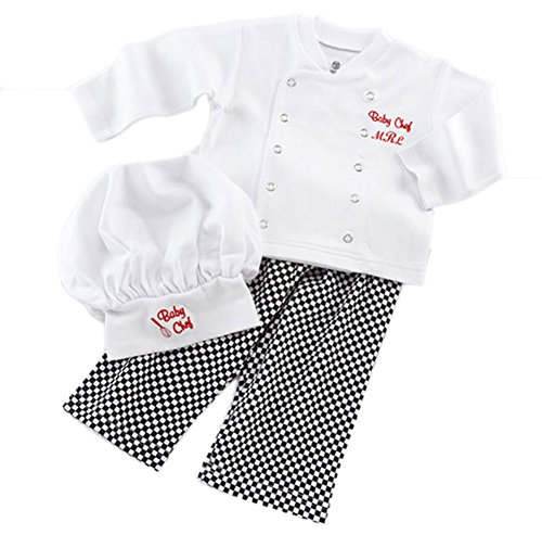 [StylesILove Baby Unisex Cook Chef Costume, Pants and Hat 3-pc (6-12 Months)] (Baby Chef Costumes)
