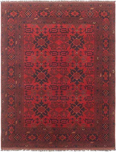 """eCarpet Gallery Area Rug for Living Room, Bedroom   Hand-Knotted   100% Wool   Finest Khal Mohammadi Bordered Red Rug 4'11"""" x 6'4""""   305386 from eCarpet Gallery"""