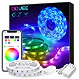 Govee 32.8ft LED Light Strip Works with Alexa and Google Assistant Wireless Smart Phone APP Control Strip Light, Music Sync 5050 LEDs RGB Tape Lights for Room Kitchen Home Party (Not Support 5G WiFi)