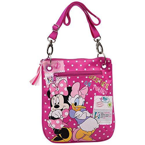 Disney Tracolla con Tasca Frontale, Bambini, Minnie & Daisy, Rosa