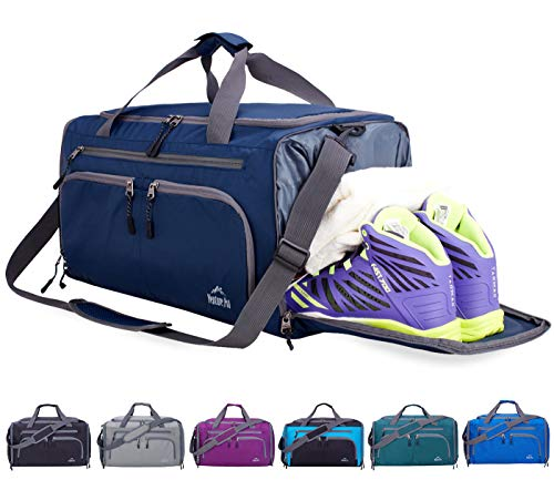 Venture Pal Packable Sports Gym Bag with Wet Pocket & Shoes Compartment Travel Duffel Bag for Men and Women-Navy from Venture Pal