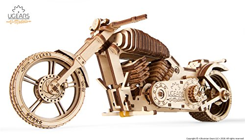 Wooden Bike, Vintage Vehicle, Mechanical Models, School Project, Automata Kit, Desk Décor by Ugears