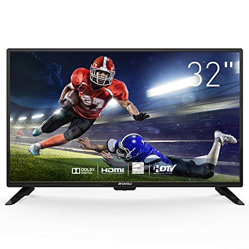 LED HD TV 32 inch 720p Flat Screen TV HDMI USB with Energy Star (32-inch)