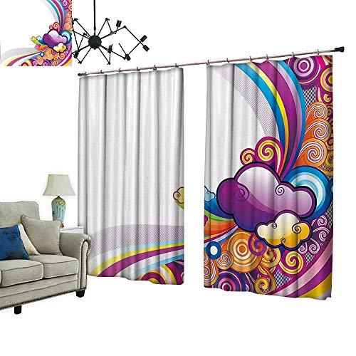PRUNUS Decorative Curtains has Hook Nursery Room Rainbows for sale  Delivered anywhere in Canada