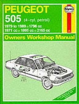 peugeot 505 petrol 1979 89 owner s workshop manual service rh amazon com Peugeot 505 Interior service manual peugeot 505