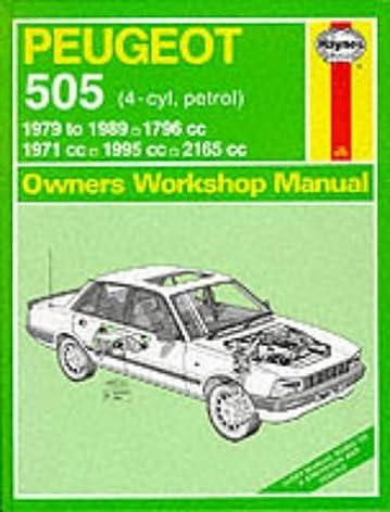 peugeot 505 petrol 1979 89 owner s workshop manual service rh amazon com peugeot 505 parts manual peugeot 505 workshop manual