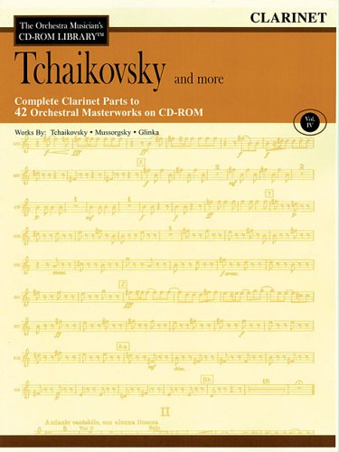 Orchestra Musician's CD-ROM Library Volume 4 Clarinet Tchaikovsky & More