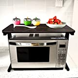 Akway Kitchen Rack 23.6inch Microwave Oven Stand Kitchen Cabinet and Counter Shelf Organizer Spicy Shelf Rack Toaster Organizer, Black 301-HHT