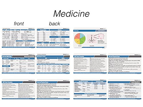 Scrubnotes - Medical Reference ID Badge Cards - 13 Card Set - Reference sheets for Doctors and Nurses