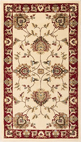 Well Woven Abbasi Ivory Traditional 2'3