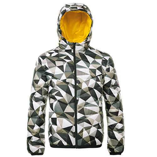- Rokka&Rolla Men's Lightweight Water Resistant Hooded Quilted Poly Padded Puffer Jacket