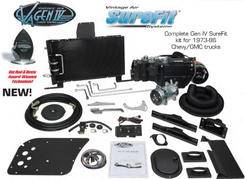 Vintage Air Gen IV SureFit Complete System Kit 1973, 1974, 1975, 1976, 1977, 1978, 1979, 1980 Chevy / GMC Pickup Truck with Factory AC
