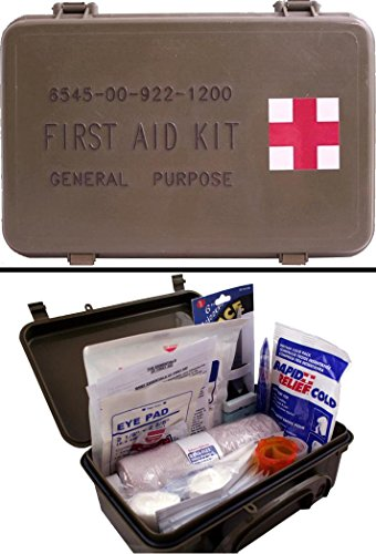 Ultimate Arms Gear First Aid Trauma Kit General Purpose In Waterproof Carrying Storage Case  Usa Made  Fully Stocked 58 Piece Kit