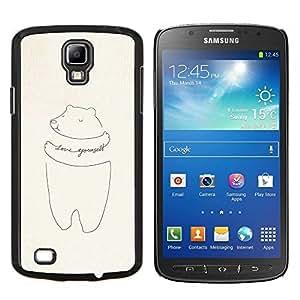 Caucho caso de Shell duro de la cubierta de accesorios de protección BY RAYDREAMMM - Samsung Galaxy S4 Active i9295 - cerdo amarte a ti mismo dibujo de motivación