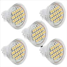 Spot Light - SODIAL(R)5 X MR11 Spot Light Bulb 3528 SMD 24 LED Warm White DC 12V