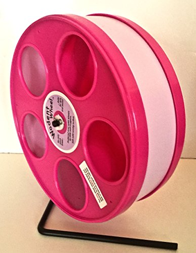 8 inch Wodent Wheel, pink. Great for pet rats!