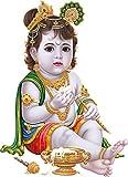 Rangoli god & God's Wall Sticker Makhanchor Modern Art 73