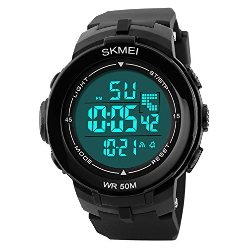 Aposon Men's Digital Electronic Sport Watch Multifuntional 24H Military Time Quartz Waterproof Casual LED Back Light with Simple Large Numbers 164ft 50M Water Resistant Calendar Day and Date - (What Is A Calendar Day)