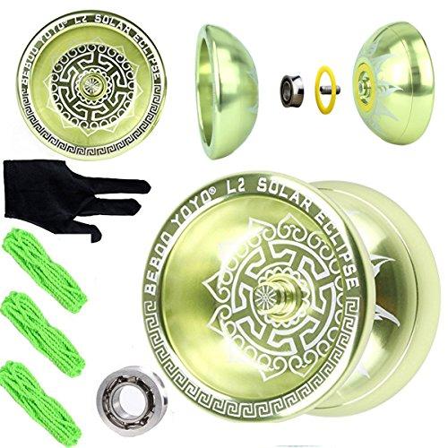 Beboo yoyo L2 Professional YOYO Alloy Aluminum yoyo Unresponsive Yoyo Balls Pro yoyo Toys Light Yellow