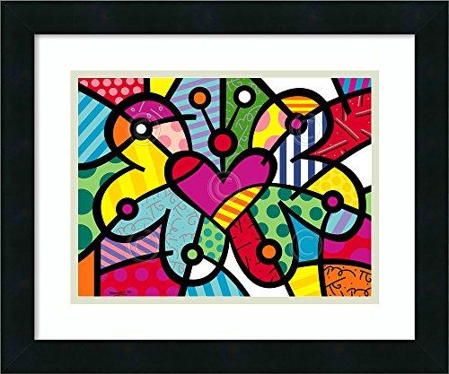 (Framed Art Print 'Heart Butterfly' by Romero)