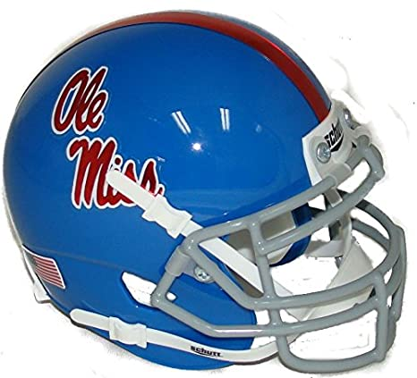 Image Unavailable. Image not available for. Color  Mississippi (Ole Miss)  Rebels Alternate 2 Chrome Decal Schutt Authentic Mini Helmet f1de3b49c