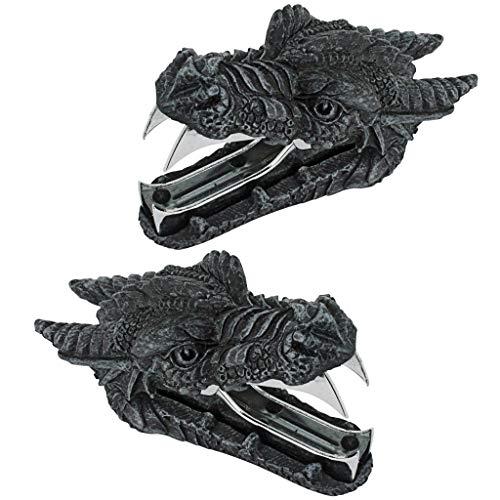 Design Toscano Iron Jaws Dragon Gothic Staple Remover: Set of 2, Graystone (Renewed) ()