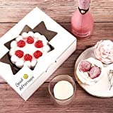 Moretoes 24pcs Cookie Boxes with Window White