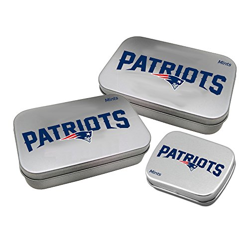 (Worthy Promotional NFL New England Patriots Decorative Mint Tin 3-Pack with Sugar-Free Mini Peppermint)