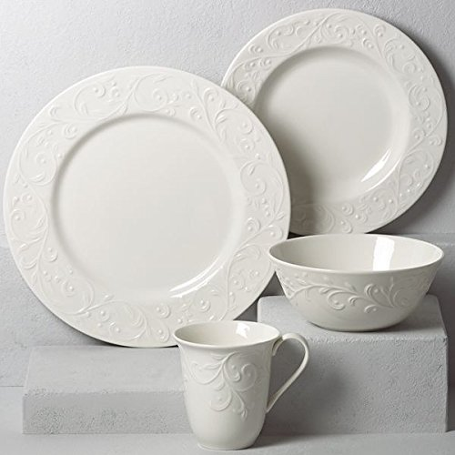 Lenox Opal Innocence Carved 4-Piece Place (Scroll 4 Piece Place Setting)