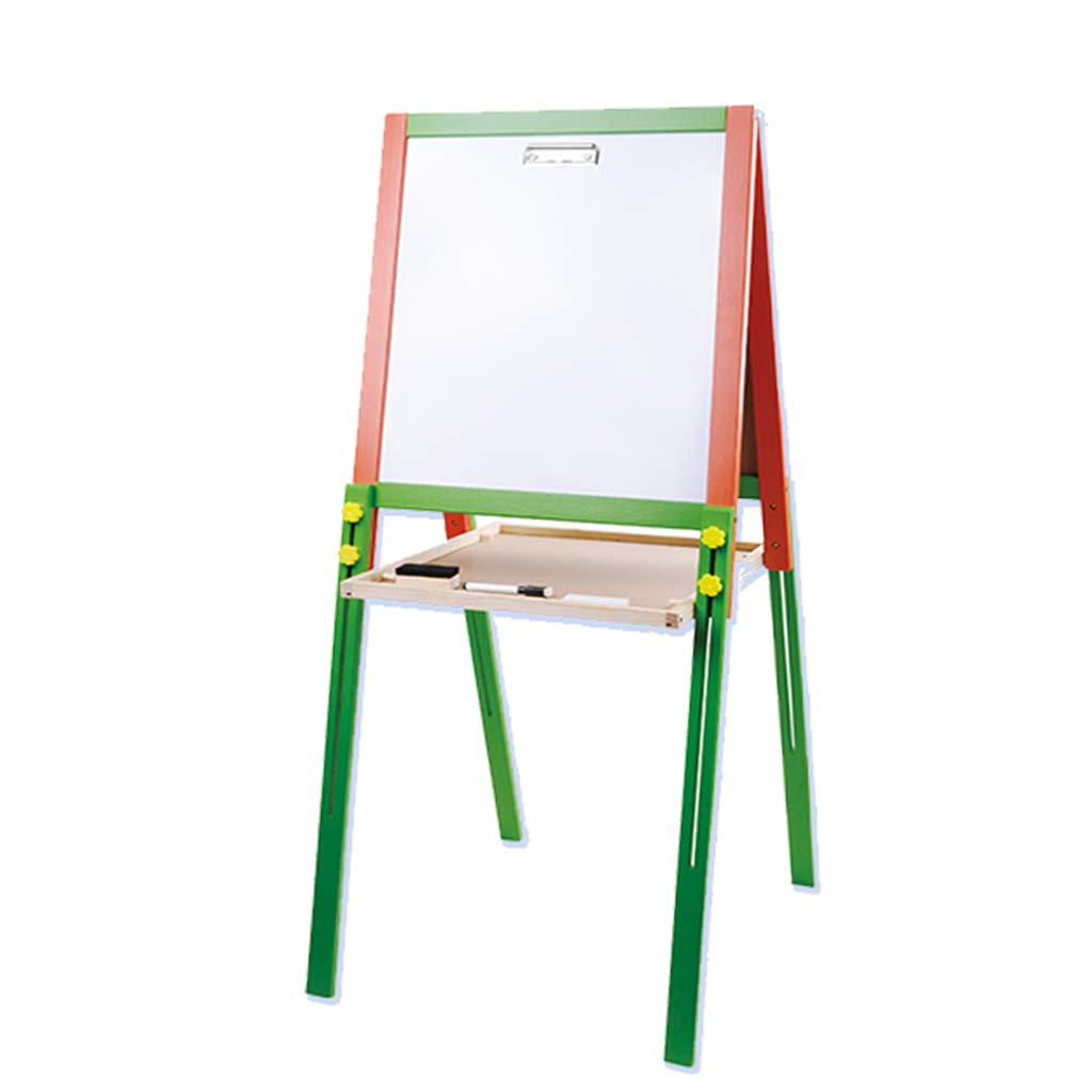 Kaiyu Tablero de Dibujo para niños Caballete Tipo de Soporte de Madera Maciza Tablero magnético de Doble Cara Tablero de Pintura para el hogar