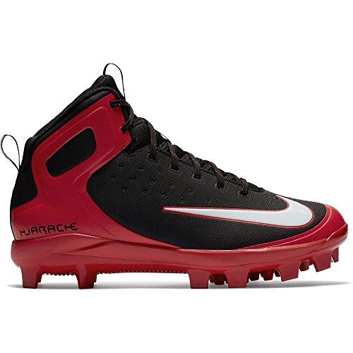 Nike Mens Alpha Huarache Pro Mid Mcs Bitta Da Baseball Nero / Bianco / Rosso Università