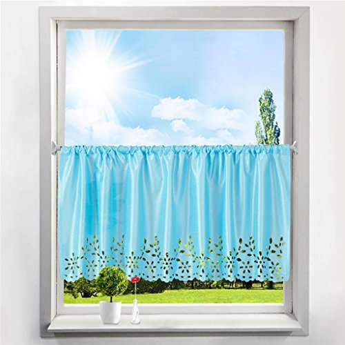 (86 York Home Roman Shades Sheer Balcony Window Curtain Voile Drape for Dinning Room Decorative 1 PC)