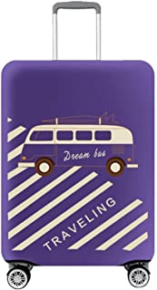 Hzjundasi Autobus Modèle Valise Sleeve Couverture Spandex Voyage Bagage Zipper Protecteur 18-32' (Valise Non Inclus)