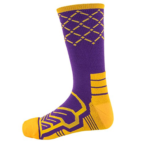 Basketball Net Socks – Anax Advantage: Cooldry Light Compression Crew Basketball Socks by Crown Sporting Goods – DiZiSports Store