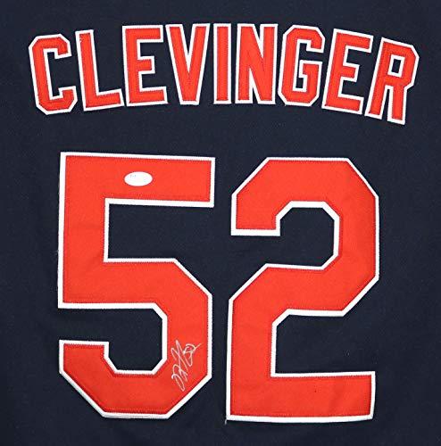 Mike Clevinger Cleveland Indians Signed Autographed Blue #52 Jersey JSA COA
