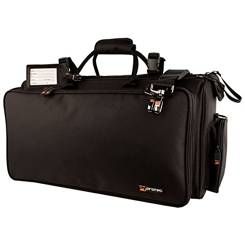Protec Triple Horn Gig Bag with Removable Mute Storage Bag - Gold Series, Model C248 (Trumpet Flugelhorn Case)